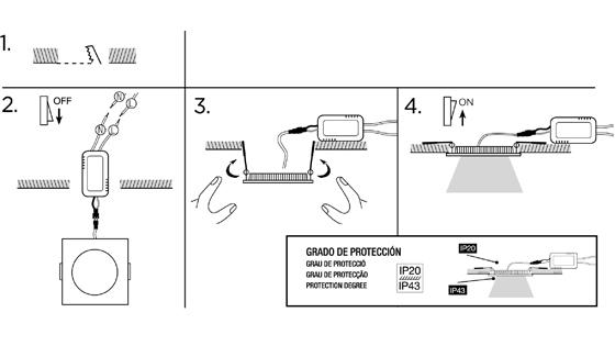 Instructions de montage Downlights Wonderlamp